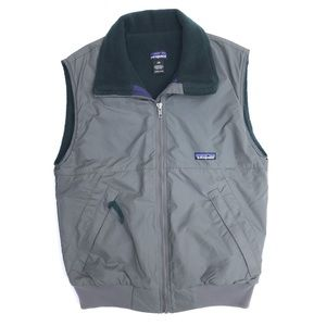 Patagonia Fleece Lined Synchilla Nylon Shell Vest
